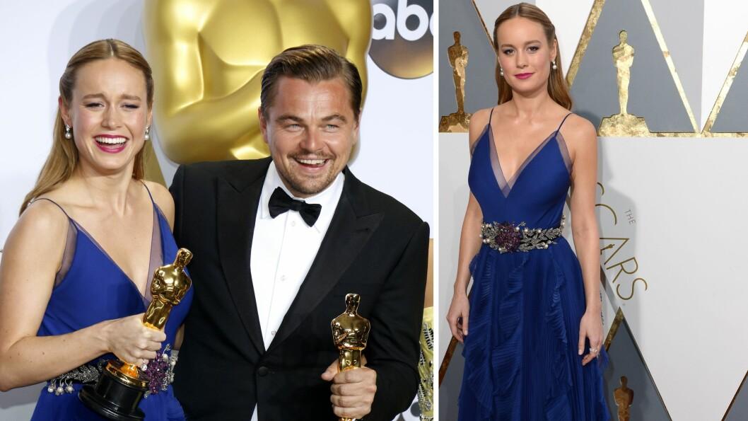 TALENTFULLE: Brie Larson vant Oscar for beste kvinnelige hovedrolle i filmen Room sist helg, mens Leonardo DiCaprio vant Oscar for beste mannlige hovedrolle i The Revenant.  Foto: NTB Scanpix