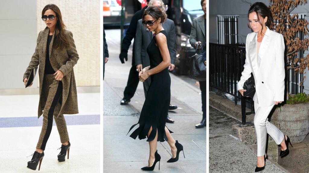 FASHIONISTA: Victoria Beckham avslører at hun ikke lenger bruker høye hæler.  Foto: NTB scanpix