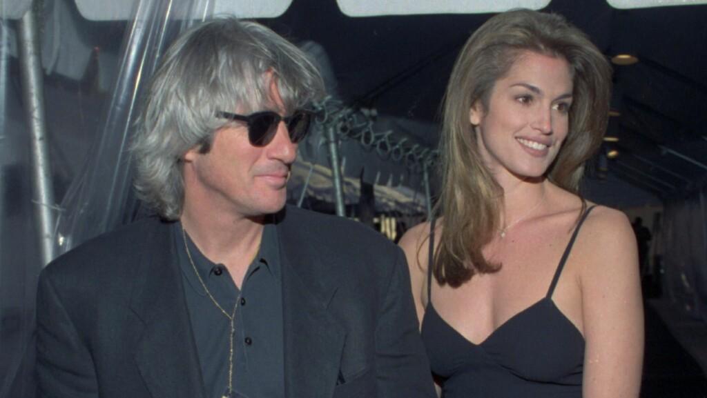 STJERNEPAR: Richard Gere og Cindy Crawford var på slutten av 80-tallet og begynnelsen av 90-tallet et av de aller hotteste parene i Hollywood.  Foto: NTB Scanpix