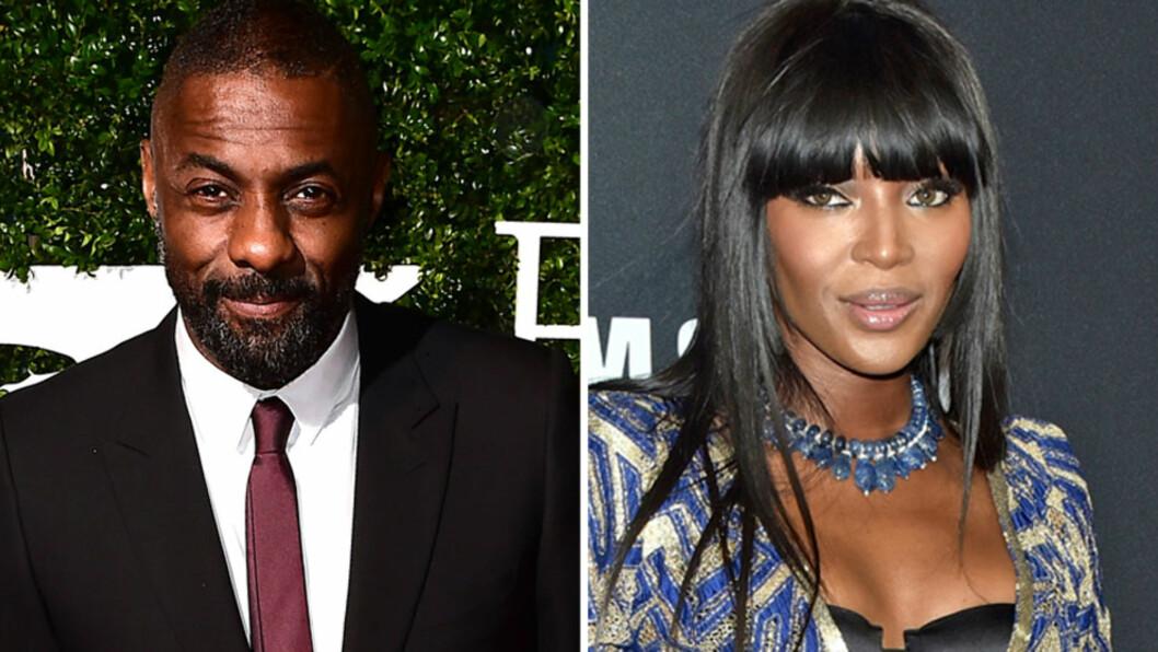 SINGEL: Få dager etter at han festet med supermodellen Naomi Campbell i New York, kommer nå nyheten om at Idris Elba har flyttet fra kjæresten og sønnen i London.  Foto: NTB Scanpix