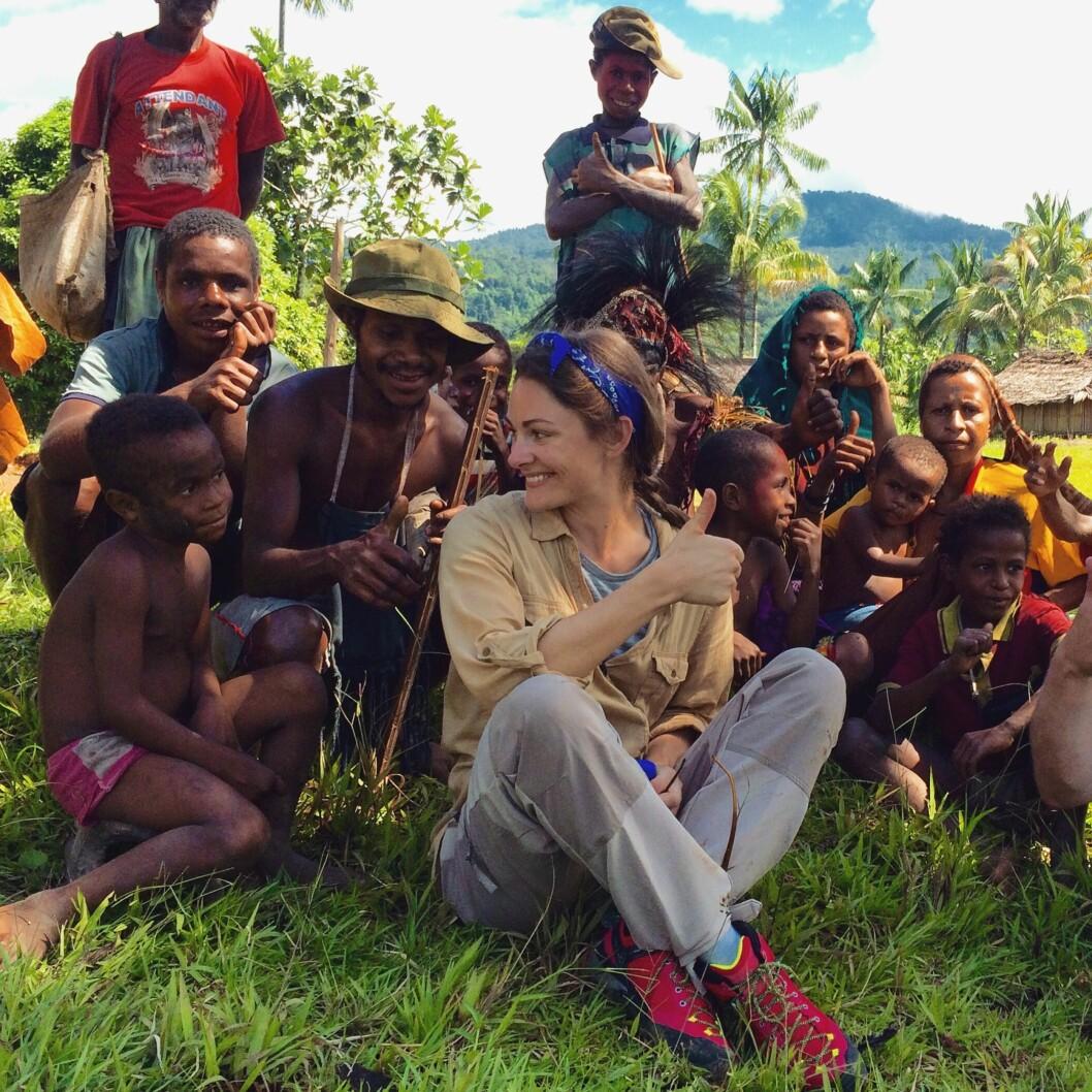 ENGASJERT: I fjor besøkte Jenny Skavlan Papua Ny-Guinea i forbindelse med TV-aksjonen 2015, som var til inntekt for Regnskogfondet.  Foto: NRK