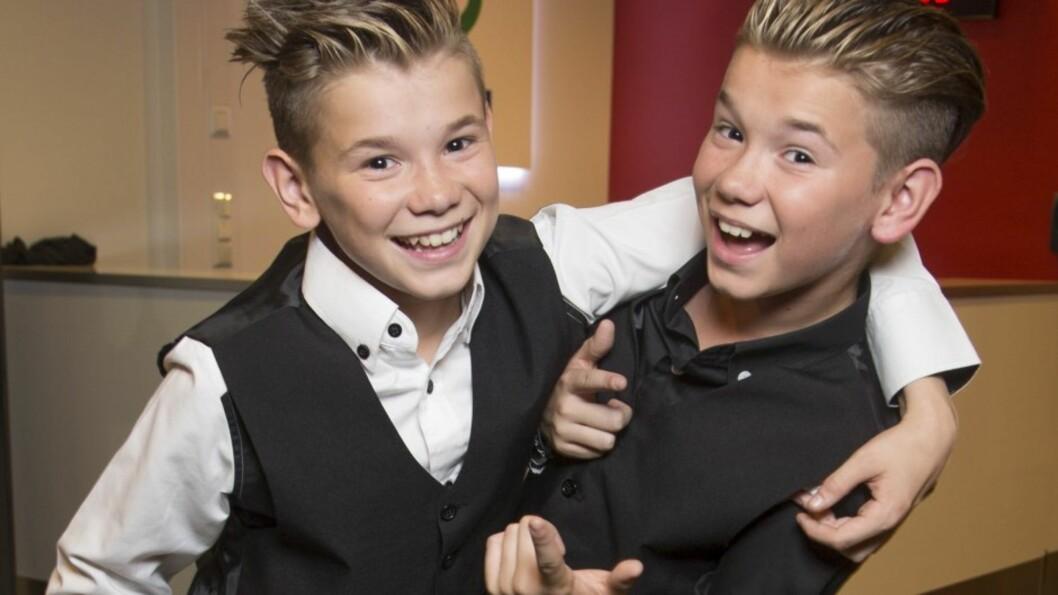 VIL HA KJÆRESTE: Popstjerne-tvillingene Marcus og Martinus Gunnarsen er utrolig populære, men de to 13-åringene savner kjærester. Foto: Tore Skaar