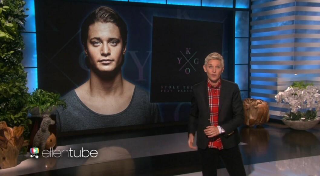 """TAR VERDEN MED STORM: Kygo har til og med opptrådt på """"The Ellen DeGeneres Show""""."""
