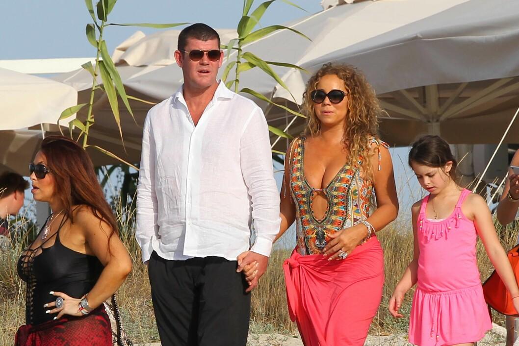 SAMMEN I ET HALVT ÅR: James Packer og Mariah Carey ble først observert sammen i sommer da de ferierte sammen i varmere strøk.  Foto: NTB scanpix