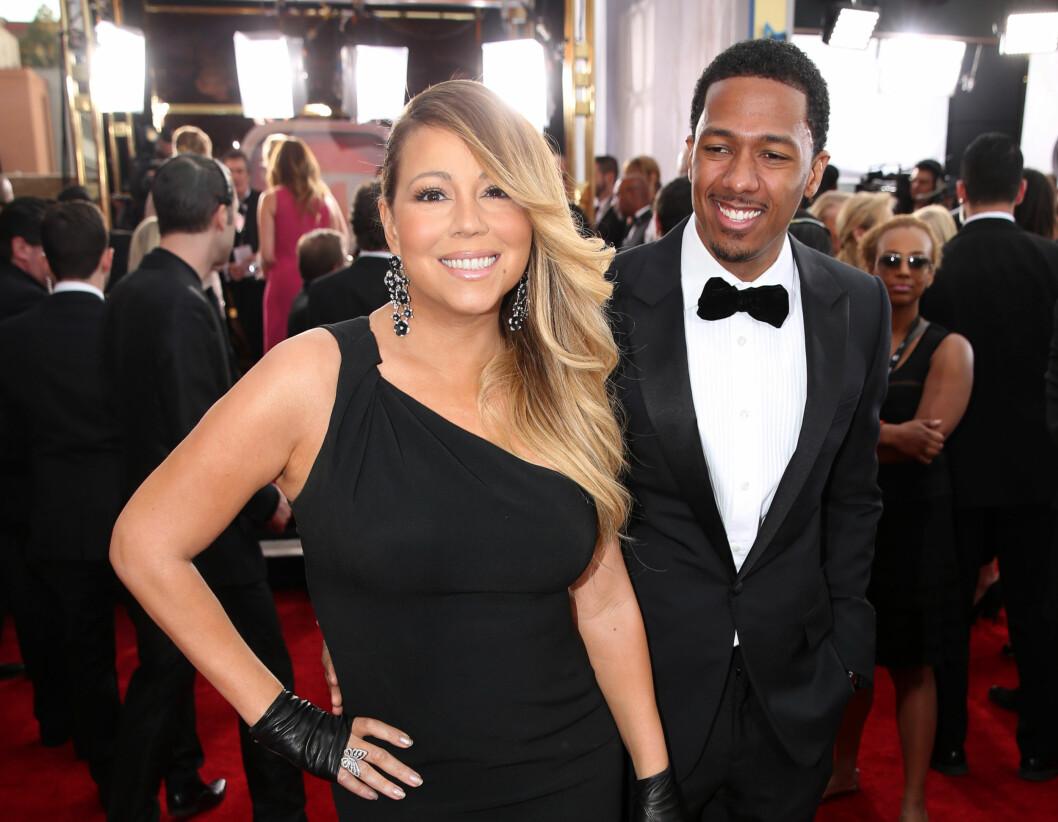 EKSEN: Mariah og eksmannen Nick Cannon har beholdt et nært vennskap siden bruddet.  Foto: NTB scanpix