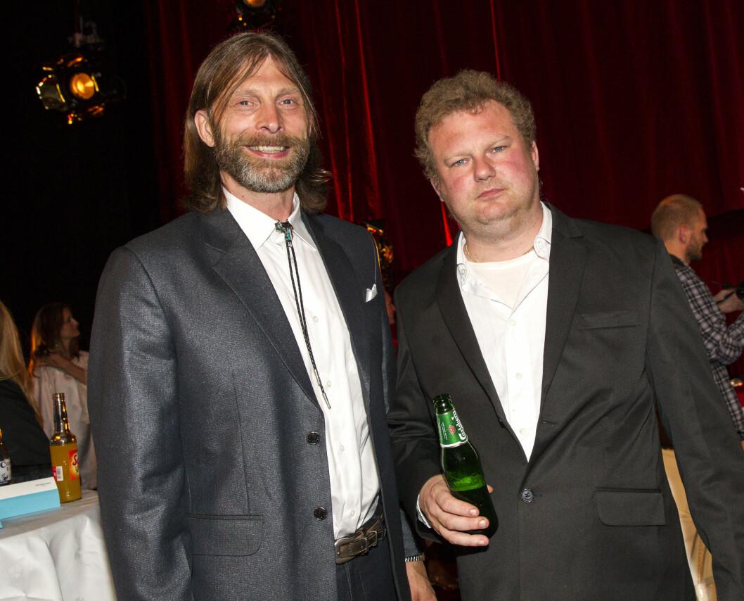 TRIVELIG DUO: Ola Conny Wallgren og Morgan Karlsson har blitt kjente navn fra TV-skjermen.  Foto: Andreas Fadum