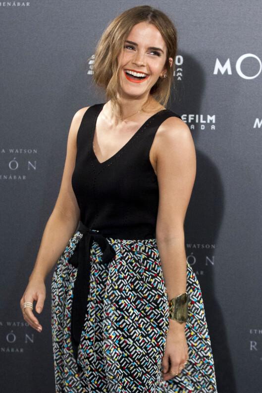 TRYGG PÅ SEG SELV: Først 15 år etter skuespillersuksessen startet for Watson, føler hun seg endelig selvsikker.  Foto: NTB scanpix