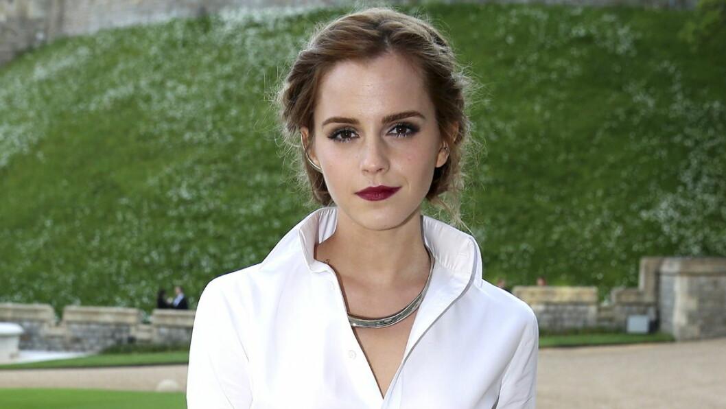 BLE SKREMT: Emma Watson innrømmer at hun lot som hun var kjedelig for å unngå oppmerksomhet fra pressen.  Foto: NTB scanpix