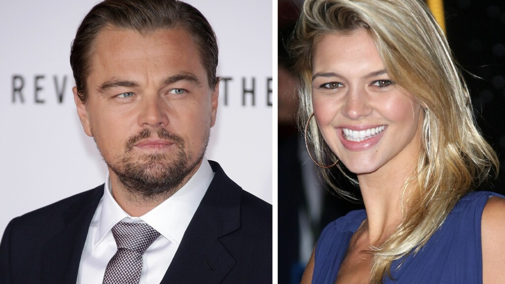 LEDIG PÅ MARKEDET: Forholdet mellom Leonardo DiCaprio og han 16 år yngre kjæreste Kelly Rohrbach holdt bare et halvt års tid. Foto: Rex Features