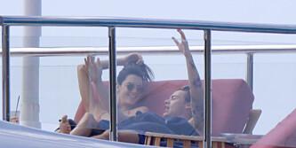 Kendall Jenner på het ferie med One Direction-Harry