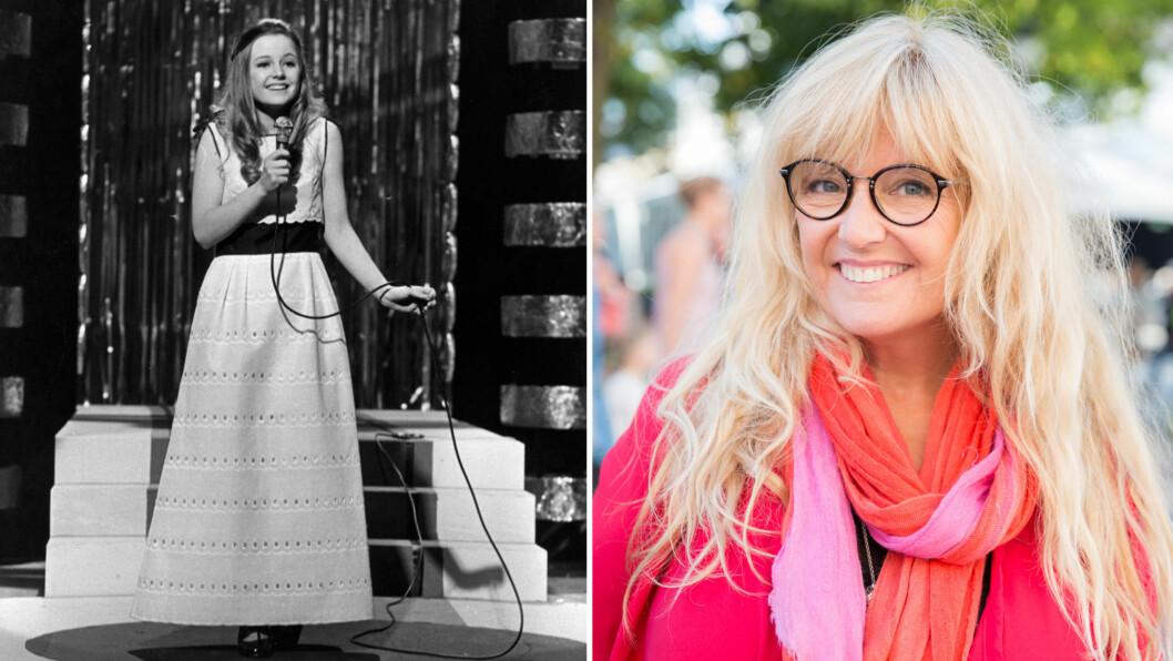 SA STOPP: Som 19-åring bestemte Hanne Krogh seg for å slutte som artist, fire år etter at hun vant den norske Grand Prix-finalen i 1971 (t.v). Det skulle gå flere år før hun ga ut noen ny plate.  Foto: NTB Scanpix