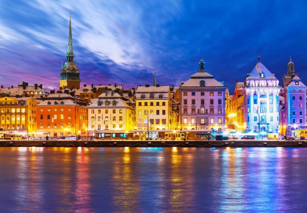 STOCKHOLM: Byen ligger i skjærgården, og det kan være svært vakkert, samtidig som det kan være surt og kaldt. Kle deg etter forholdene.  Foto: Shutterstock / Oleksiy Mark