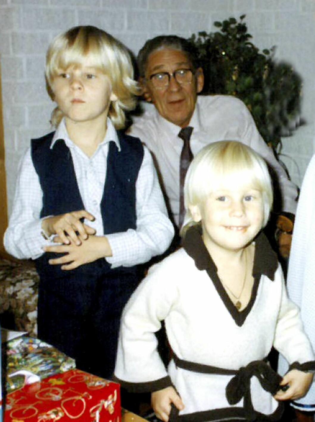 MÅTTE FLYKTE: Morfar Sverre Lindegård fortalte ofte barnebarna Christian (t.v.) og broren Martin hvor godt han ble tatt imot som flyktning i Sverige.