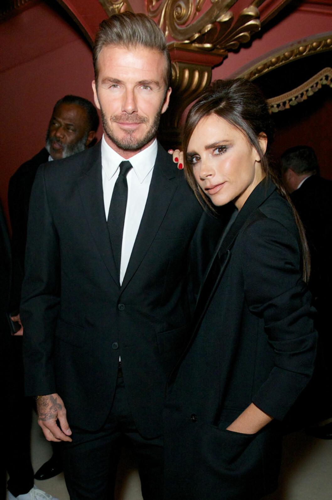 STOLTE FORELDRE: Stjerneparet David Beckham og Victoria Beckham har all grunn til å være stolt av sine barn. I tillegg til Brooklyn og Romeo har de sønnen Cruz og datteren Harper. Foto: Rex Features