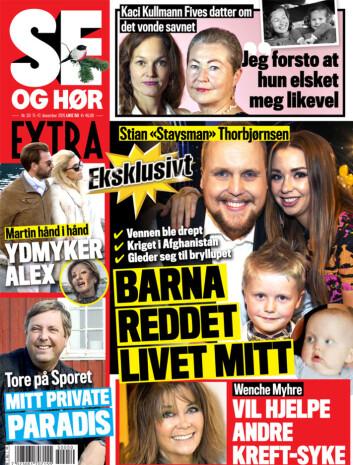 LES MER: I ukens Se og Hør Extra kan du også lese om Tore Strømøys hemmelige paradis, «Staysmans» nye liv og mye mer. Foto: Faksimile, Se og Hør