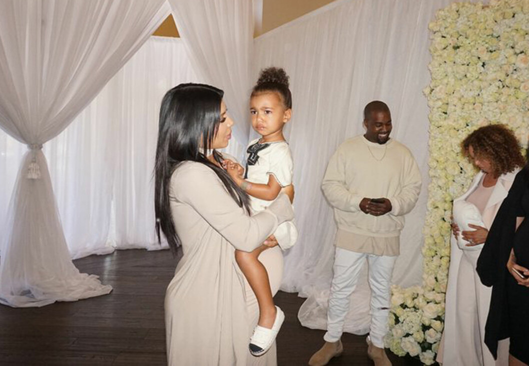 REALITYSTJERNE: 2 år gamle North West er allerede en realitystjerne. Hun får være med i helt spesielle episoder av «Keeping up with the Kardashians».  Foto: Xposure