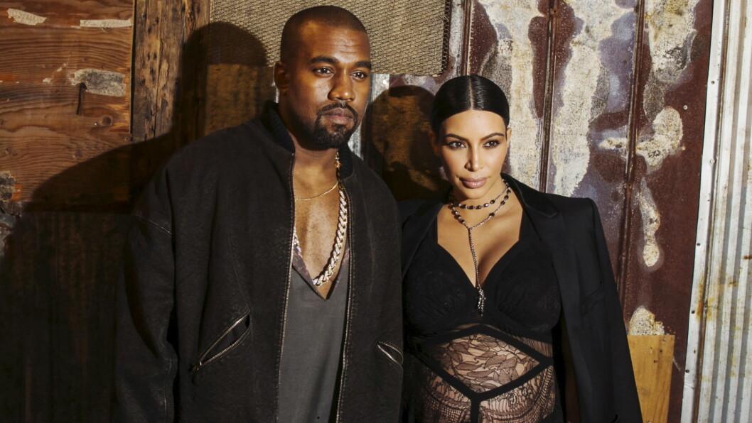 SKJERMER SØNNEN: Kim Kardashian og Kanye West er vant til rampelyset, men de ønsker å skjerme sin nyfødte sønn Saint. Han vil ikke være en del av realityshowet «Keeping up with the Kardashians» Foto: Reuters