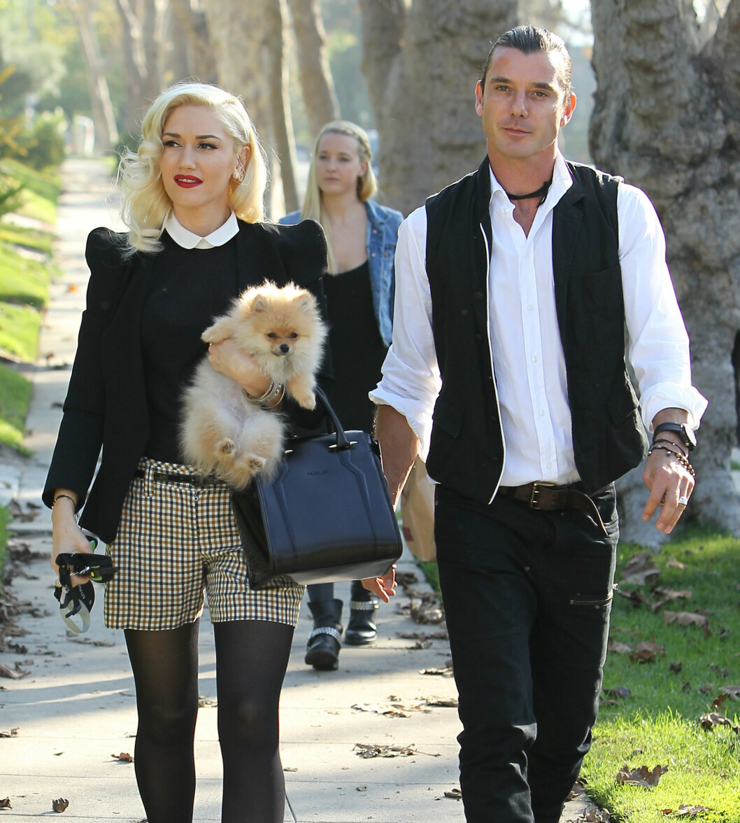 SLUTT: Ekteskapet mellom Gwen Stefani og Gavin Rossdale tok slutt etter 13 år da hun fant ut at han hadde vært utro med barnepiken Mindy Mann (i bakgrunnen).  Foto: Splash News