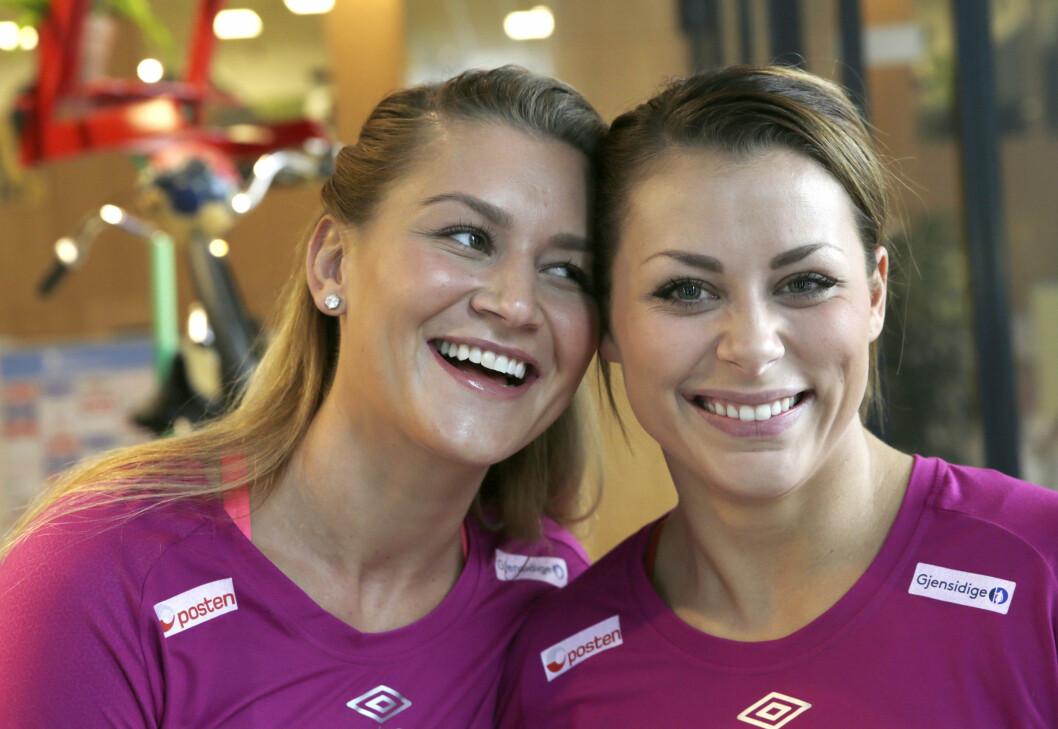 LYKKELIG DUO: Både Nora Mørk (t.h.) og Amanda Kurtovic har vært slått ut av skader, men i desember er de begge med  på landslaget under håndball-Vm i Danmark.  Foto: NTB scanpix