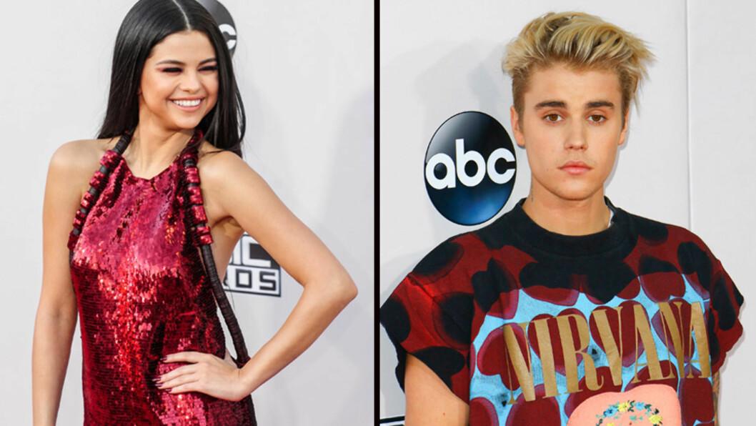 ROMANSERYKTER: Etter en romantisk kveld sammen håpet fansen at Selena Gomez og Justin Bieber ville ankomme American Music Awards sammen, men eksene kom til prisutdelingen hver for seg.  Foto: NTB Scanpix