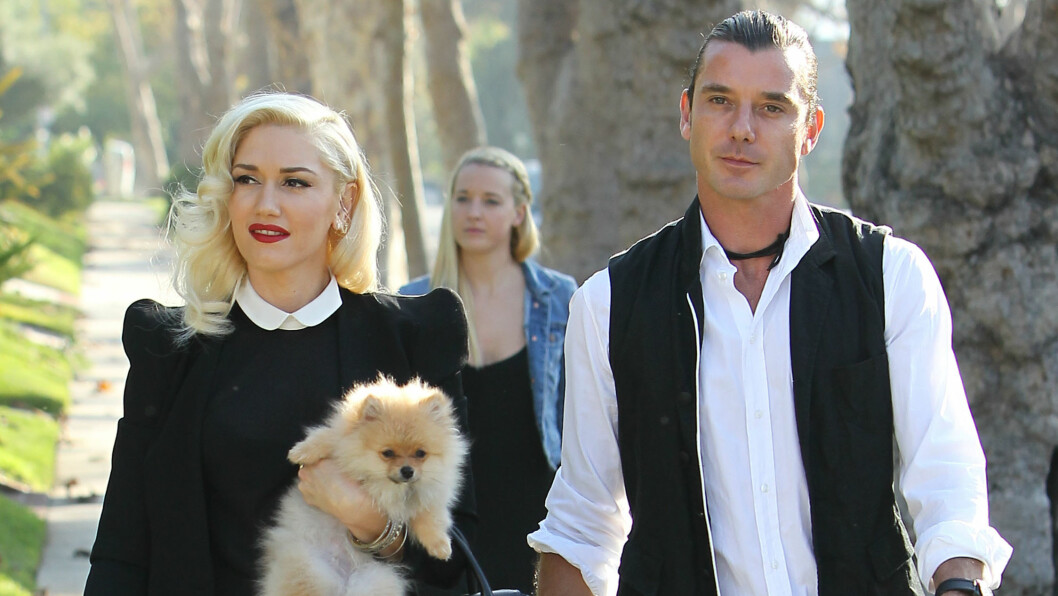 VAR UTRO: Musikerparet Gwen Stefani og Gavin Rossdale ble kjærester allerede i 1995, men i sommer tok forholdet slutt. Gavins affære til barnas barnepike Mindy Mann (i bakgrunnen) skal ha vært årsaken til bruddet.  Foto: Splash News