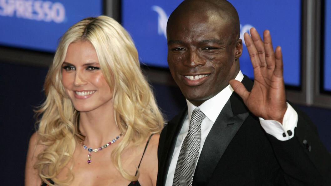 EKS-PAR: Heidi Klum og Seal giftet seg på en strand i Mexico i 2005. Hvert år etter bryllupet fornyet de løftene med store temafester - noe Seal innrømmer at ble i meste laget. Foto: Ap