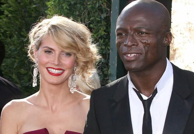 <strong>EKSPAR:</strong> Heidi Klum og Seal giftet seg på en strand i Mexico i 2005, og har fire barn sammen. I 2014 valgte de to å gå skilte veier. Foto: NTB Scanpix