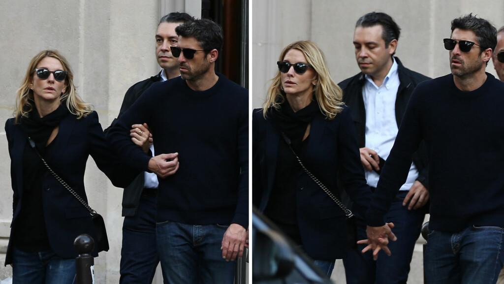 SØT MUSIKK I PARIS: Snart et år er gått siden Jillian Dempsey (t.v) søkte om skilsmisse fra TV-stjernen Patrick Dempsey. I helgen ble de to likevel fotografert hånd i hånd i kjærlighetsbyen Paris.  Foto: Abaca Press/ NTB Scanpix