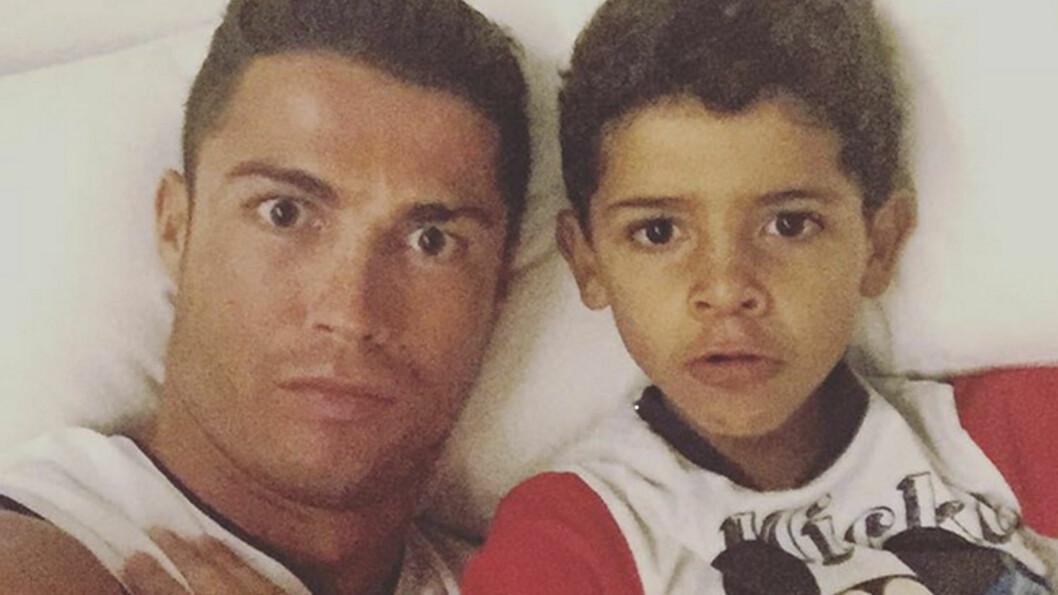 SNAKKER UT: I sin nye dokumentarfilm Ronaldo snakker Cristiano Ronaldo ut om forholdet til sønnen, som også heter Cristiano. Foto: Xposure