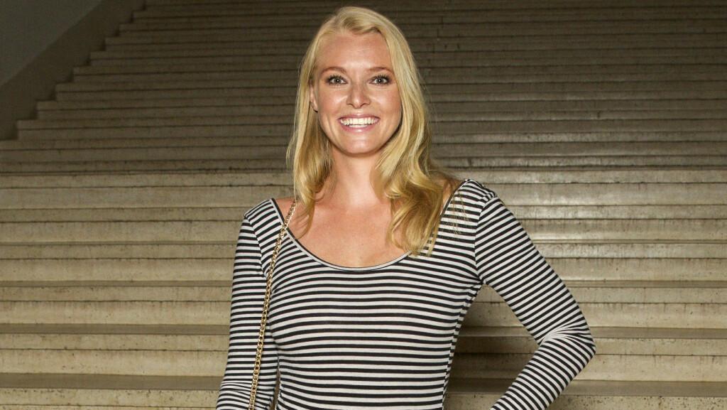 BABYLYKKE: Den vakre programlederen Henriette Bruusgaard bekrefter at hun har fått en sønn.  Foto: Andreas Fadum