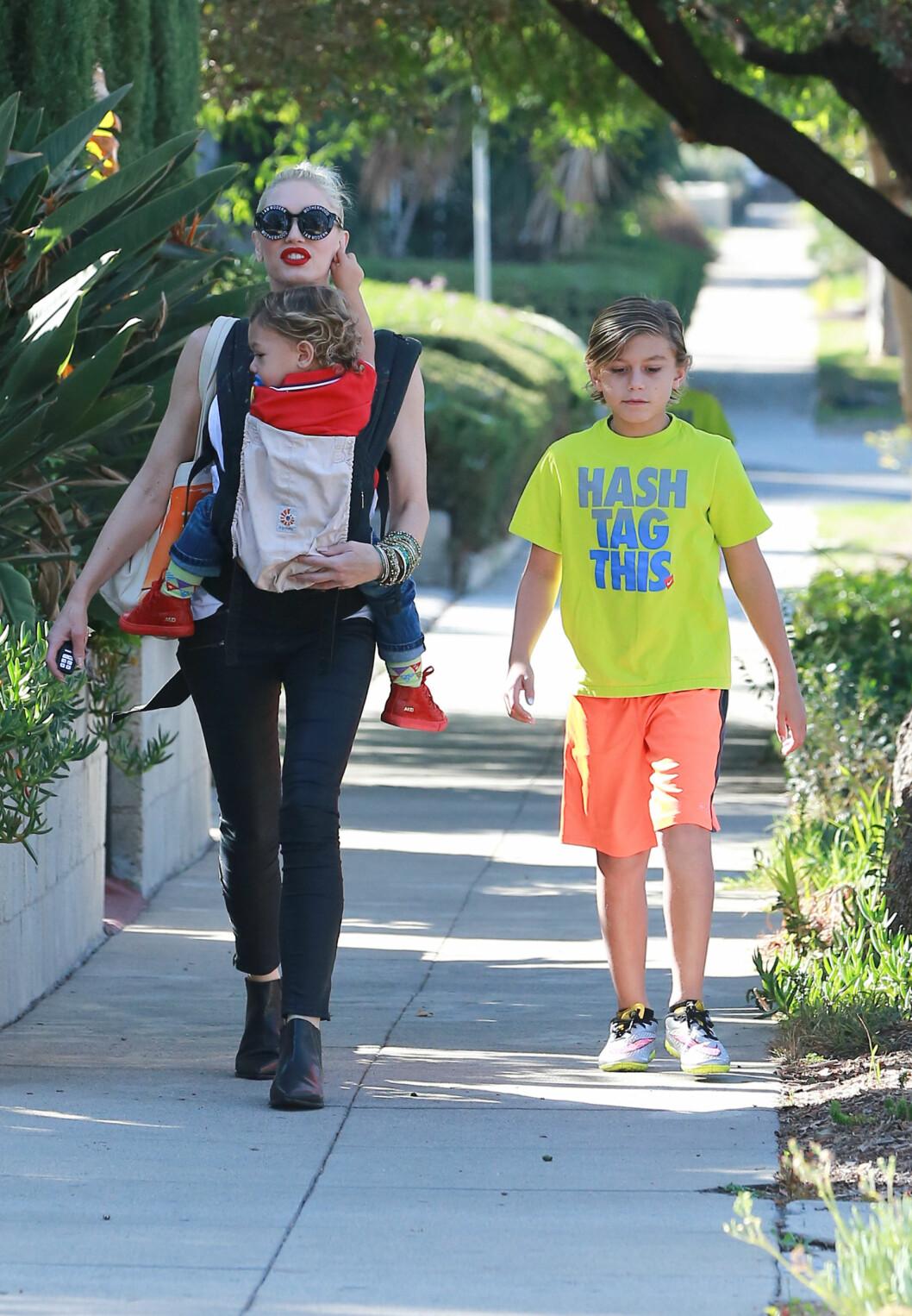 TØFF TREBARNSMOR: Gwen Stefani og ektemannen skilte lag kun halvannet år etter minstemann ble født.  Foto: NTBscanpix