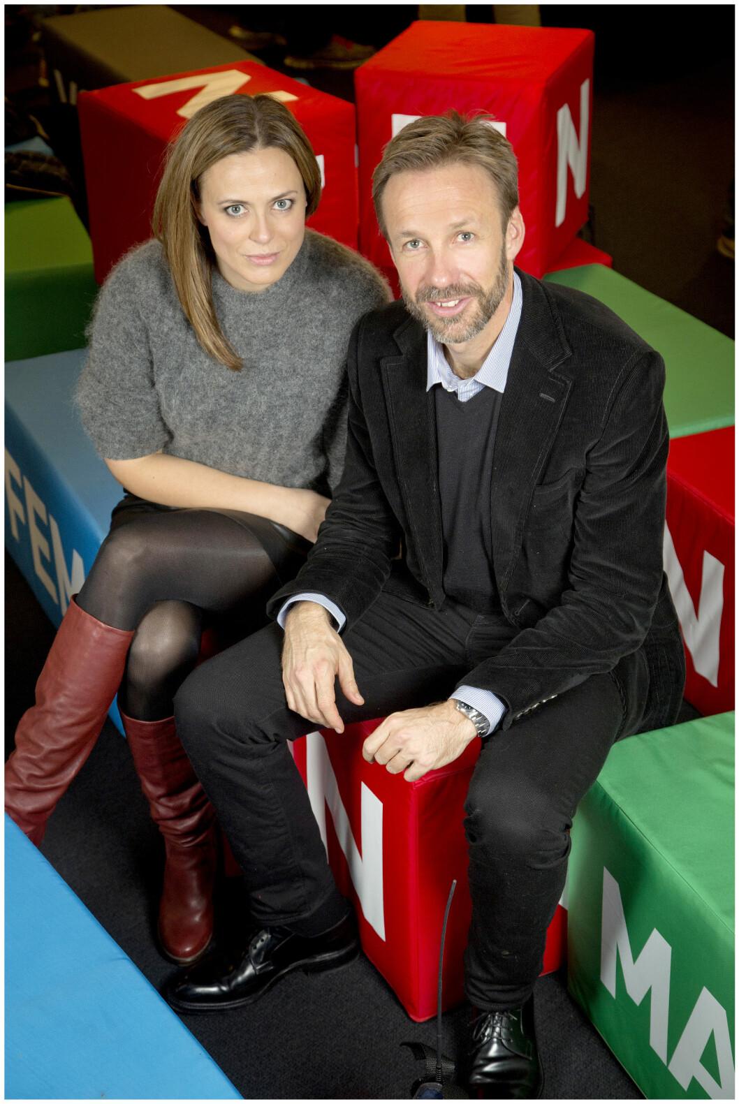 - SAMMEN I SERIEN: Thomas Giertsen og Ine Jansen spiller kjærestepar i TVNorge-serien «Helt perfekt».