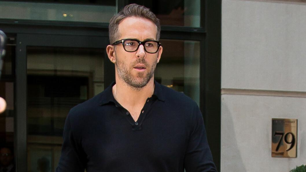 I SORG: Skuespilleren Ryan Reynolds mistet faren sin tirsdag. Foto: Splash News