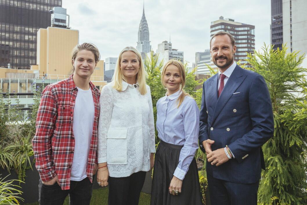 NEW YORK: Mette-Marit og Haakons tur til New York gikk imidlertid som planlagt. Her møtte hun den norske popkometen Kyrre Gørvell-Dahll, bedre kjent som Kygo. Foto: NTB scanpix