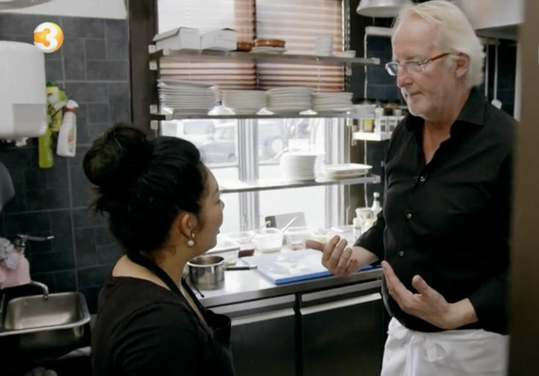 AGGRESSIV: Eyvind Hellstrøm koker over i kveldens episode av restaurant-programmet.  Foto: TV 3