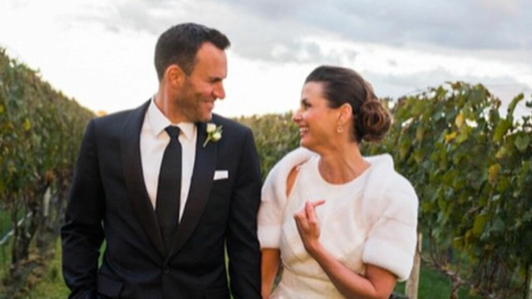 <strong>GIFTET SEG:</strong> Bridget Moynahan giftet seg med Andrew Frankel, lørdag.  Foto: Instagram