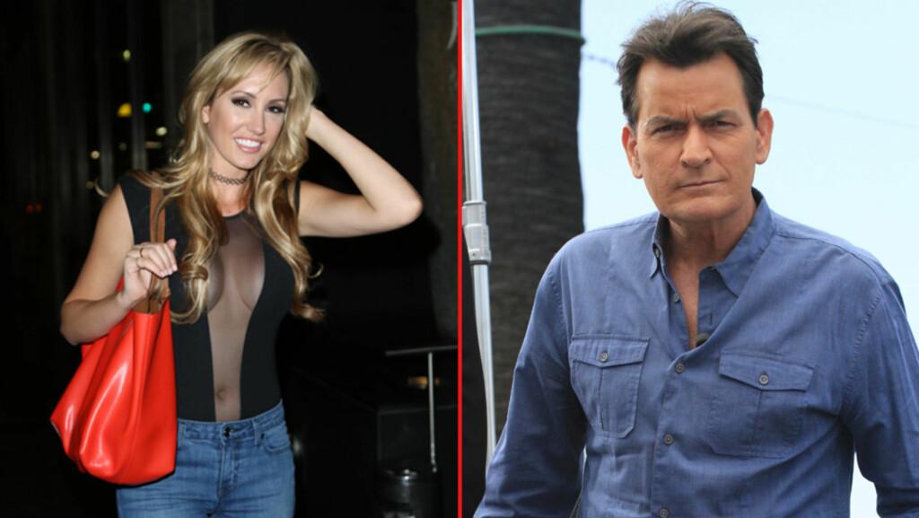 KOSTBART BRUDD: Brett Rossi krever at Charlie Sheen betaler henne 32 millioner kroner etter at han dumpet henne fem uker før deres planlagte bryllup.  Foto: NTB Scanpix
