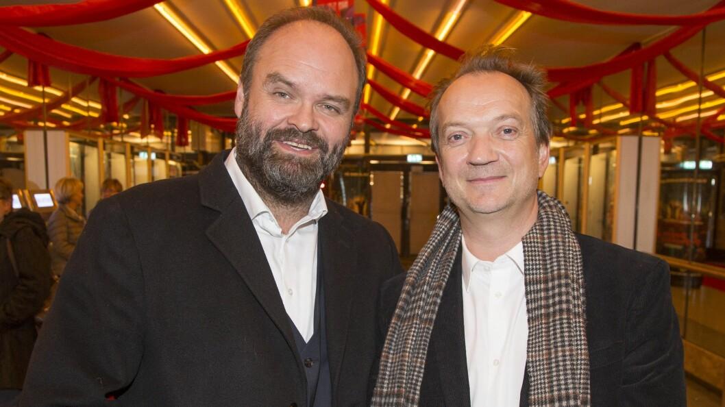 KINOAKTUELLE: Atle Antonsen og Gard B. Eidsvold har to av hovedrollene i filmen. De gledet seg til premieren med barn og foreldre. Foto: Tore Skaar/Se og Hør