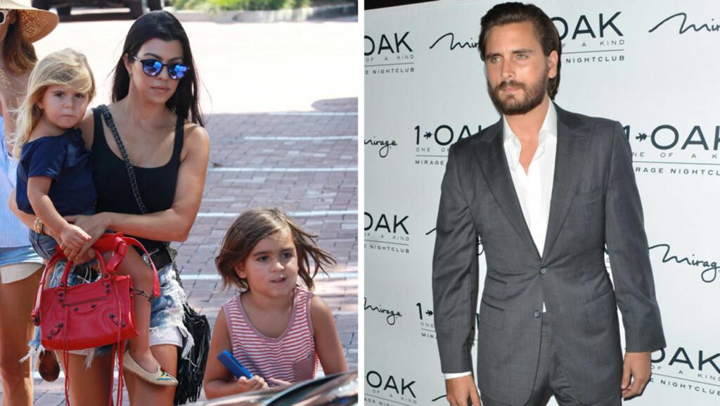 BITTERT BRUDD: Kourtney Kardashian skal være villig til å gå langt for å hindre Scott Disick i å få delt omsorgsrett for barna deres. Foto: Scanpix