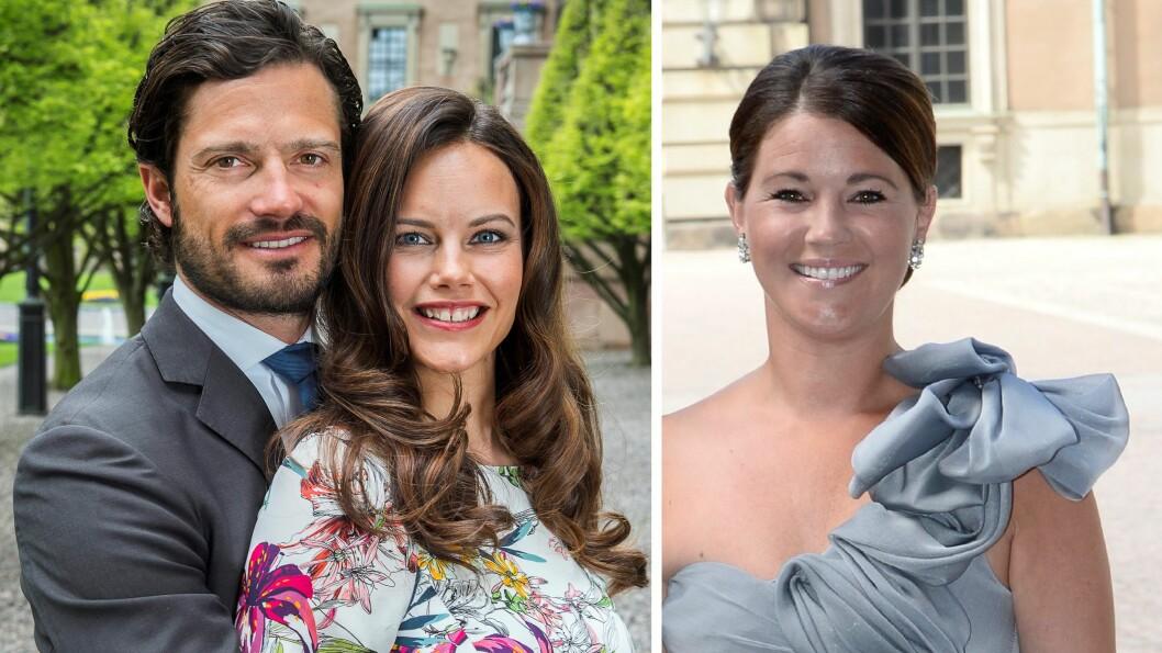 TREKANTDRAMA: Prinsesse Sofia skal ikke ha godtatt at ektemannen prins Carl Philip var fadder sammen med eks-kjæresten Emma i Nicolas barnedåp.