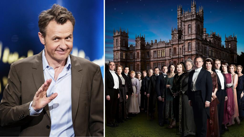 FAN AV «DOWNTON ABBEY»: Da talkshow-kongen Fredrik Skavlan gjestet radioprogrammet «P3morgen» nylig, røpet han at det godt kan komme en tåre når «Downton Abbey» er tilbake på TV. Søndag kveld går annen episode av den siste sesongen på NRK1. Foto: NTB Scanpix