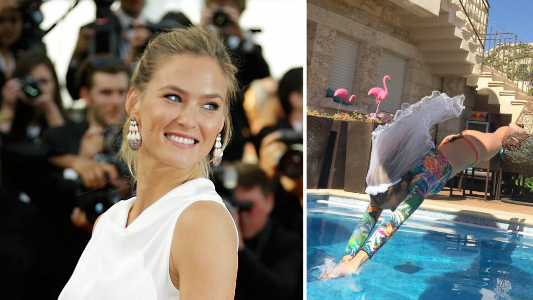 GIFTEKLAR: Torsdag kveld blir supermodell Bar Refaeli gift, når hun smis i hymens lenker med forretningsmannen Adi Ezra. På Instagram viser bruden hvor klar hun er for ekteskapet! Foto: AP/ Skjermdump fra Instagram