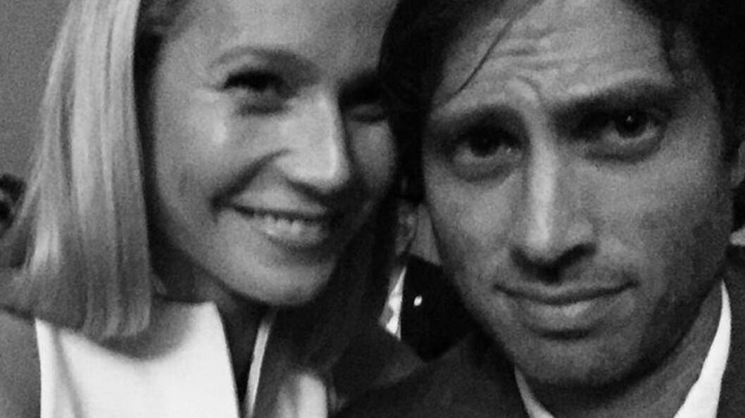 LYKKELIG FORELSKET: Endelig avslører Gwyneth Paltrow at hun er sammen med Brad Falchuk.  Foto: Instagram/Brad Falchuk