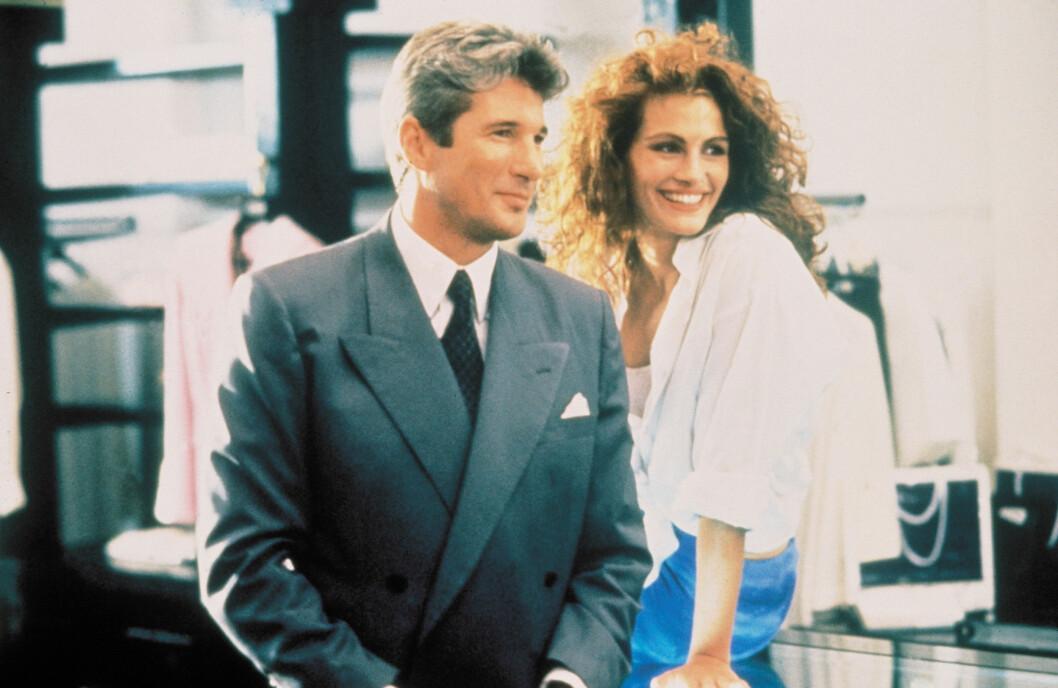 <strong>VELKJENT ROLLE:</strong> Roberts slo for alvor gjennom i Pretty Woman fra 1990. Her med Richard Gere. Foto: TOUCHSTONE/WARNERS / Album