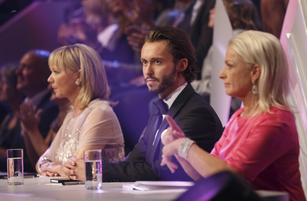STRENGE: Årets dommere er de erfarne danserne Trine Dehli Cleve, Egor Filipenko og Merethe Lingjærde. Foto: NTB Scanpix