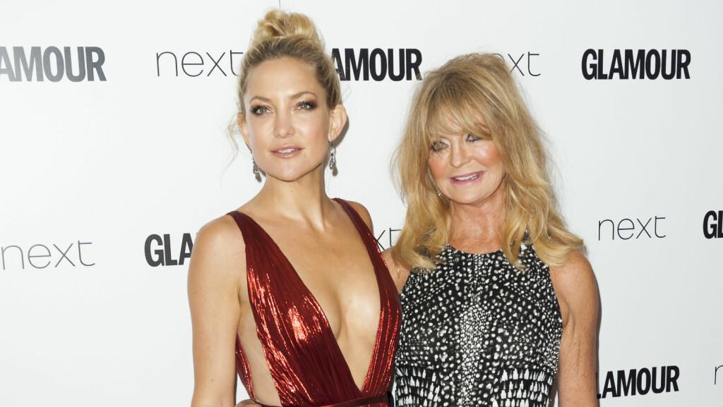 MOR OG DATTER: Kate Hudson og moren Goldie Hawn har et nært og godt forhold, og er ofte å se sammen på røde løpere. Foto: Splash News