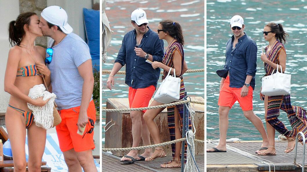 <strong>SERIØST FORHOLD:</strong> Stjerneparets forhold ser ut til å bli stadig tettere. Her er Bradley og Irina på ferie ved Amalfi-kysten i Italia i sommer.  Foto: Xposure