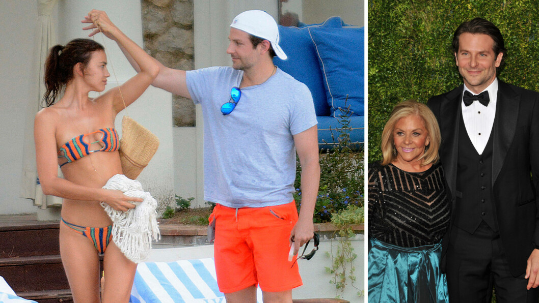 <strong>HETE FØLELSER:</strong> I august var Irina Shayk og Bradley Cooper på romantisk ferie sammen i Italia. Her er paret fotografert på Capri i midten av måneden. Nå skal filmstjernen ha introdusert modellkjæresten for moren sin, Gloria (t.h). Foto: Xposure/ INFPhoto.com