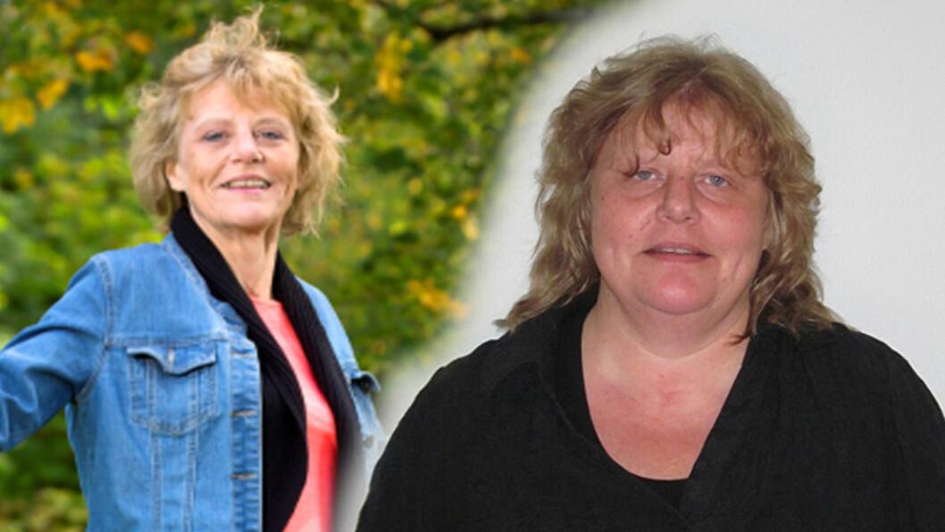 <strong>EKSTREM FORVANDLING:</strong> Tre år og 60 kilo skiller disse to bildene av Heidi Orholt fra Oslo. Hun veide 115 kilo på det tyngste. I dag veier hun 55 kilo, og hun trives som skuespiller. Foto: HENNING JENSEN/PRIVAT/SE OG HØR