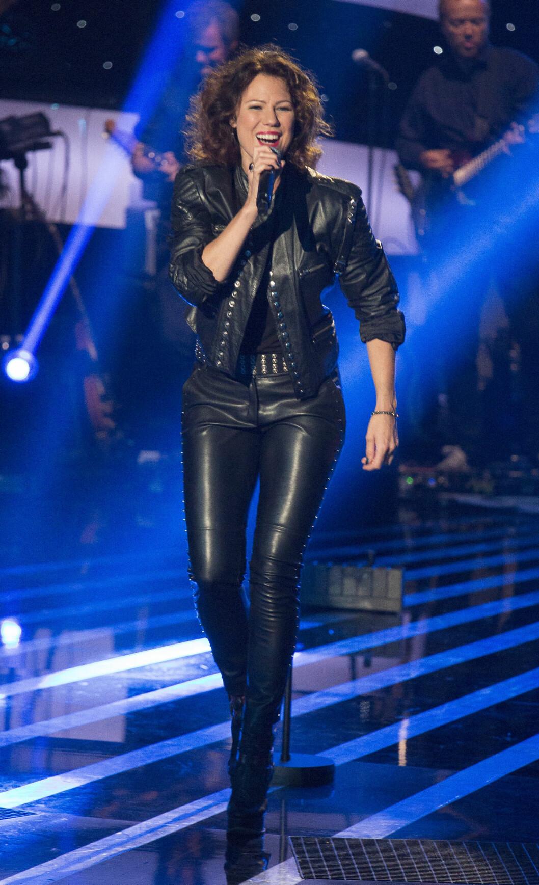 ROCKA: Trine Rein koste seg på scenen forrige lørdag. Foto: Se og Hør